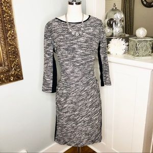 Anne Klein Black & White Sweater Dress Sheath